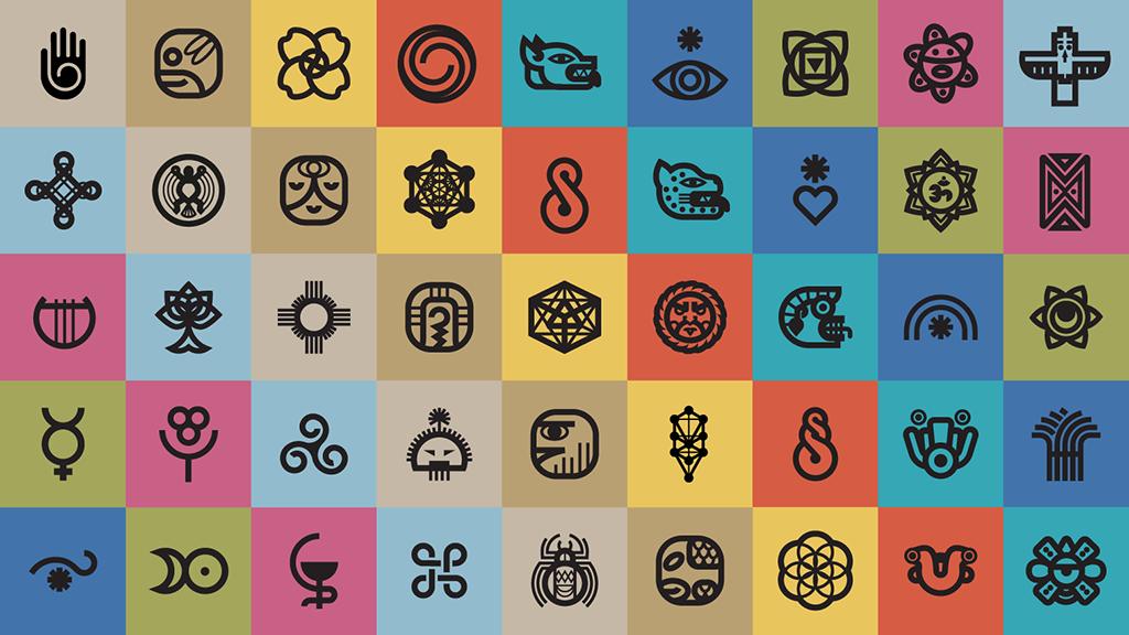 Symbolikon Mystic Symbols glyph design