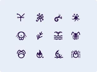Lovecraftian Chtulhu symbols