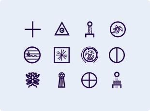 Mu Lemurian symbols
