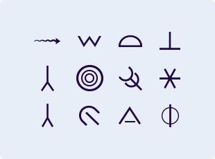Native Rock Art symbols