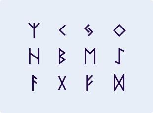 Nordic Runes symbols
