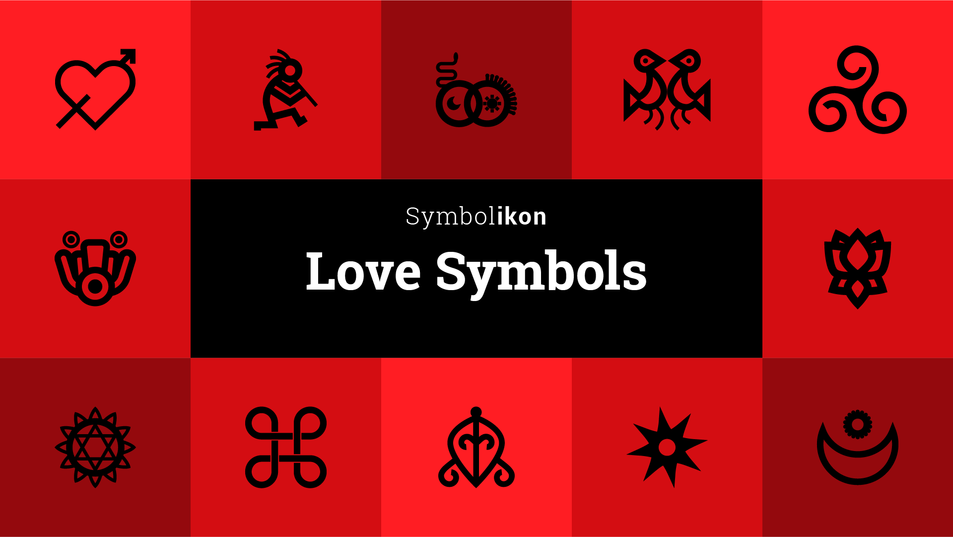 Love symbols with meaning