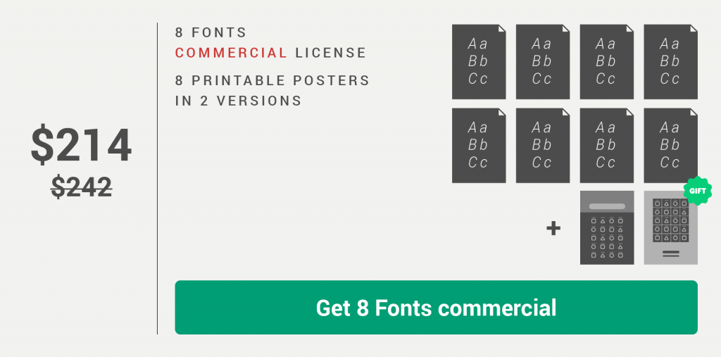 Fontikon 8 fonts commercial