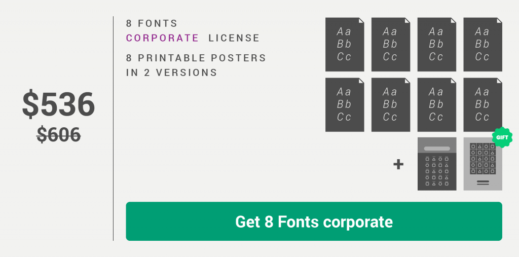 Fontikon 8 fonts corporate