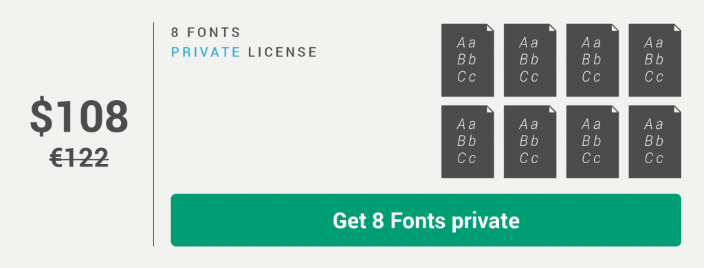 Fontikon 8 fonts private