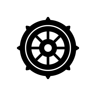 Ashtamangala dharmachakra symbol