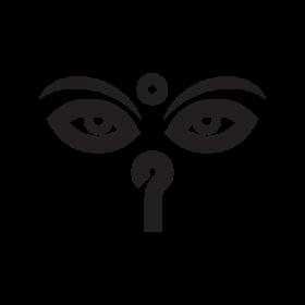 Buddha eyes Buddhism symbol