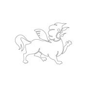 Garuda lion - The Three Victorious Creatures of Harmony Buddhism