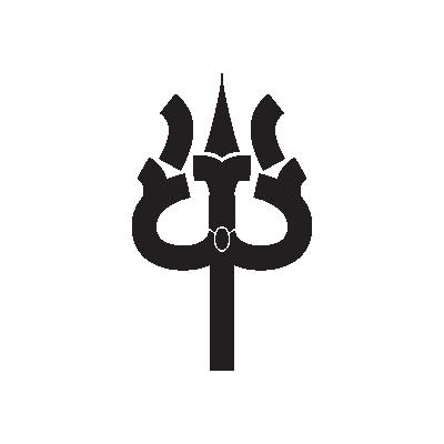 Trishula - Trident Buddhism symbol