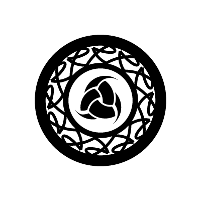 Triple horn of Odin Norse symbol