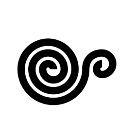 Snail conch Taino symbol