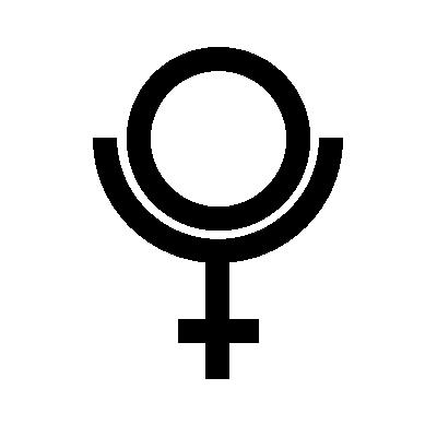 Pluto Astrology symbol