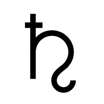 Saturn Astrology symbol