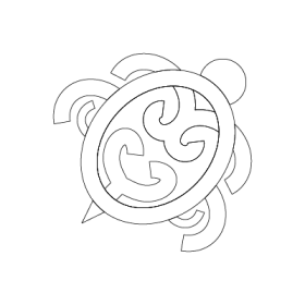 Koru Honu Maori symbol