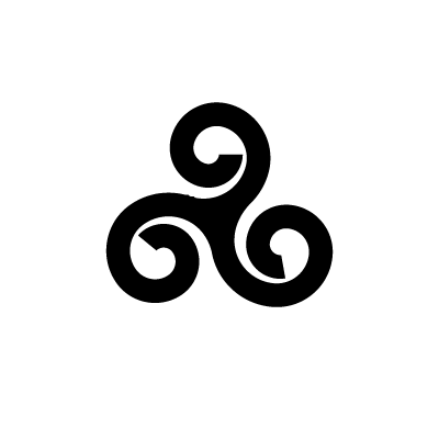 Triple Spiral Celtic symbol