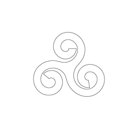 Triple Spiral Celtic symbol