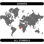 Adinkra symbols map