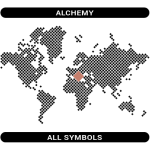 Alchemy symbols map