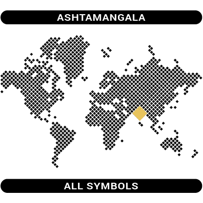 Ashtamangala symbols map