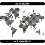 Astrology symbols map