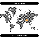Buddhism symbols map