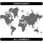 Christianity symbols map