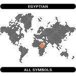 Egyptian symbols map