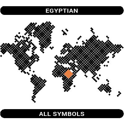 Egyptian symbols map