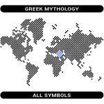 Greek Mythology symbols map