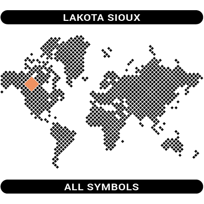 Lakota Sioux symbols map
