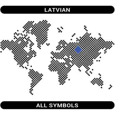Latvian symbols map