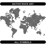 Native Rock Art symbols map