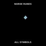 Norse runes symbols map