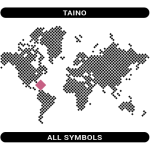 Taino symbols map