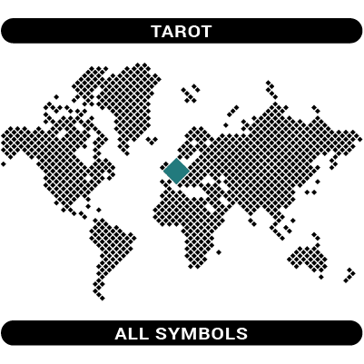 Tarot Major Arcana symbols map
