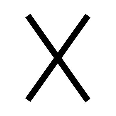 St. Andrew's Cross - Christianity symbols