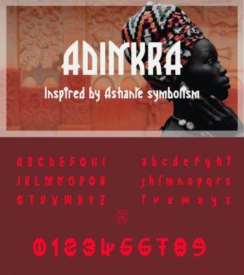 Adinkra Font - African Font