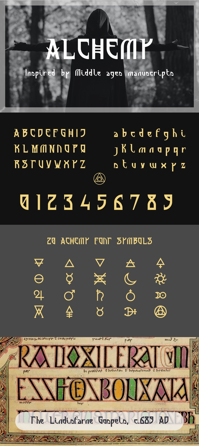 Alchemy font