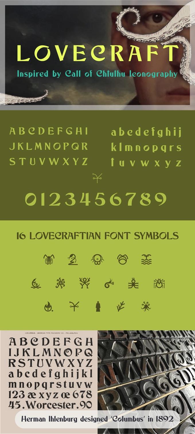 Lovecraft font