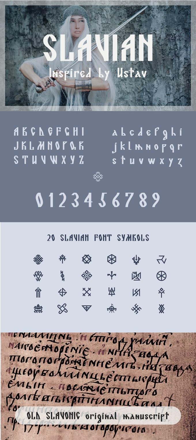 Slavic font