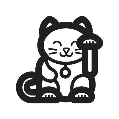 Lucky Cat Chinese Symbol