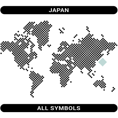 Japan all category symbols